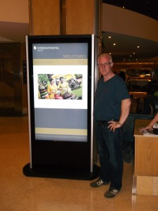touch screen hotel advertising