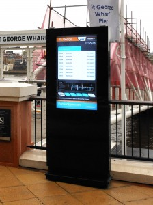 outdoor advertising kiosk