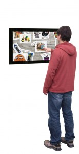 floor standing digital signage touch screen