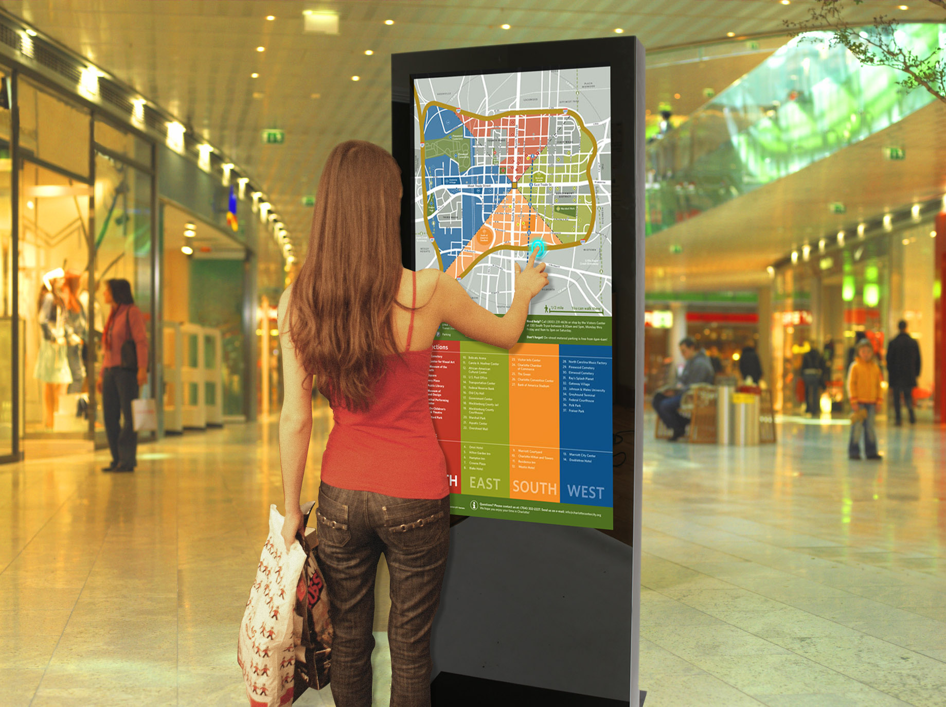 interactive digital signage kiosks